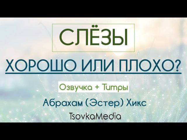 СЛЁЗЫ Хорошо или Плохо ~ Абрахам Эстер Хикс Озвучка Титры TsovkaMedia