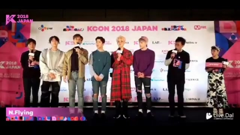 N.Flying KCON Japan Day3 - they answered all questions in Japanese themselves without the help of interpreter - sorry for backg