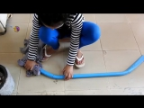 Amazing Girl Uses PVC Pipe Compound BowFishing To Shoot Fish -Khmer Fishing At S