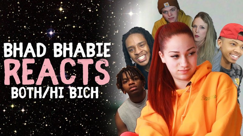BHAD BHABIE reacts to Hi Bich Remix Both Of Em Reaction and Roast Vids Danielle Bregoli