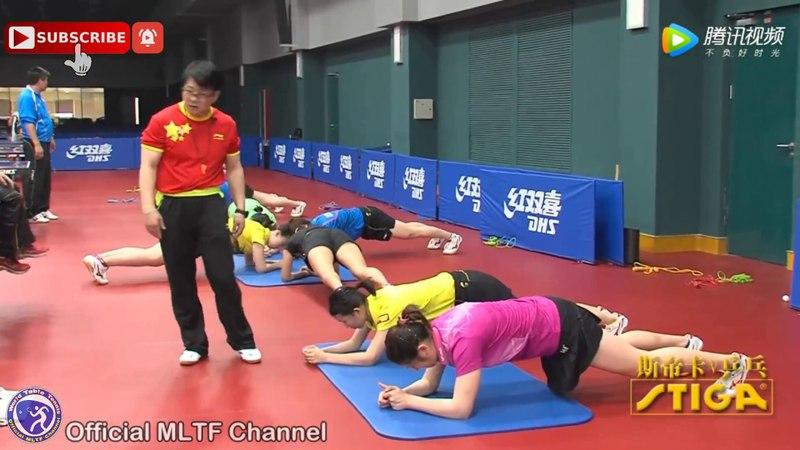 Тренировка - DING Ning, LIU Shiwen, ZHU Yuling and CHEN Meng - Stretching, Heating and Training - HD1080p60