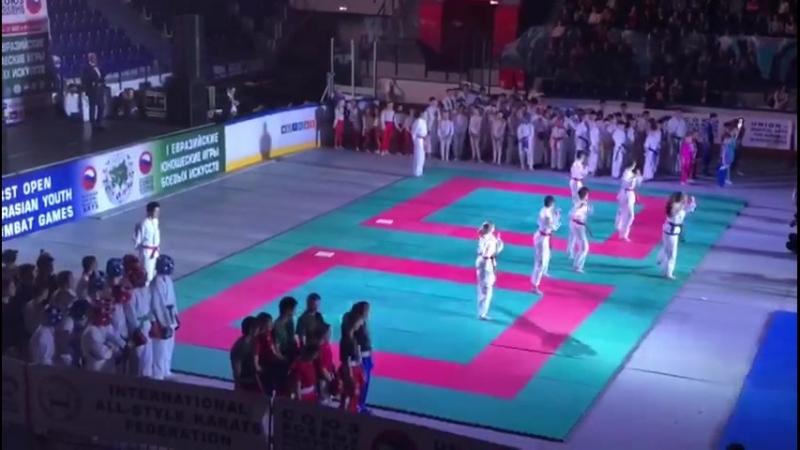 Показательные выступления спортсменов РБ, на Евразийских играх