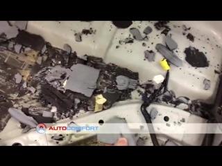 Штатная виброизоляция Honda Accord ОТВАЛИВАЕТСЯ.mp4