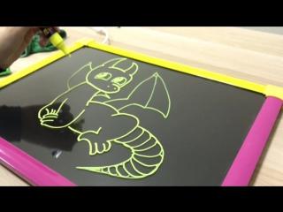 Рисуем на LED доске. Дракон