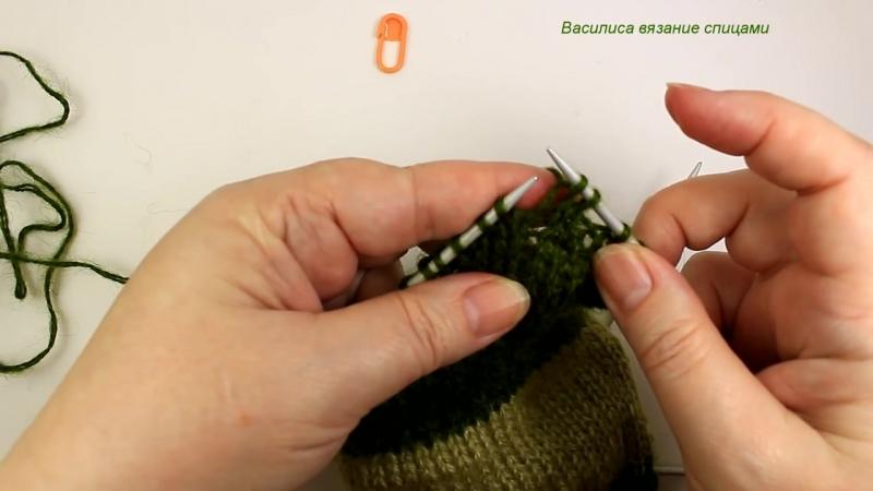 Носки спицами с двойной пяткой __Василиса