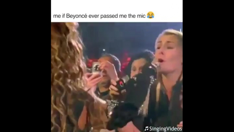 я, когда бьёнс даёт мне микрофон