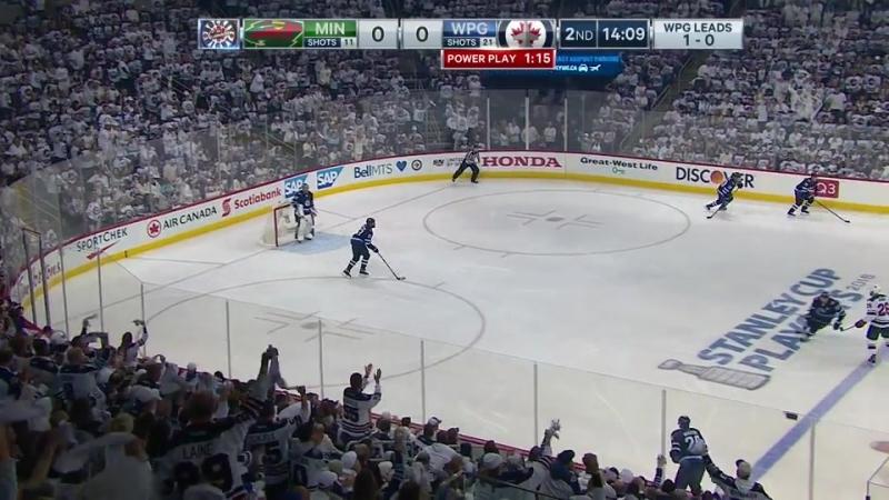 Minnesota Wild vs Winnipeg Jets 13 04 2018 Round 1 Game 2 NHL Stanley Cup Playoffs 2018