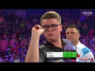 Gerwyn Price vs Ted Evetts (PDC World Darts Championship 2018 / Round 1)
