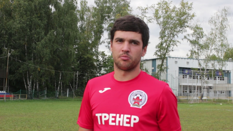 Никита Пашкин после первого тайма в матче с Малаховкой