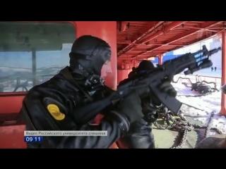 Учения спецназа Росгвардии в Арктике. Сюжет Первого канала