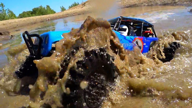 Water and Sand Bashing on the King OF Hammers RC Cars WlToys 10428 and Integy Mud Slingers 2 2 Tires