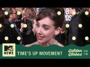 'Time's Up' Movement On The Red Carpet ft. Alison Brie, Emma Watson, & More | Golden Globes 2018