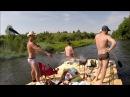 Сплав на плоту по реке Ока.