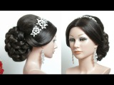 Beautiful Hairstyles. Bridal Updo For long Hair Tutorial