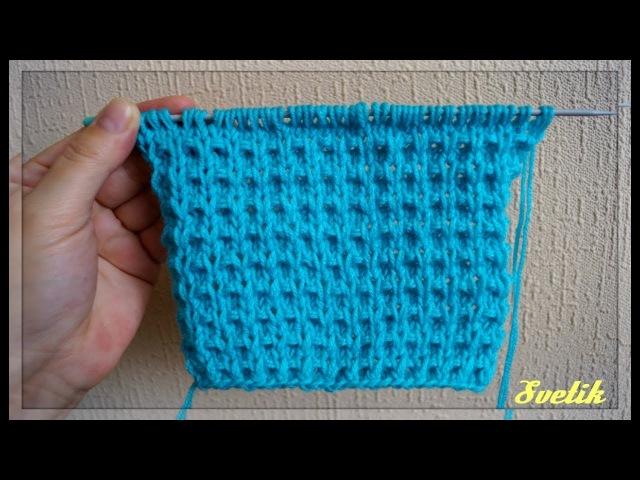 Рельефный красивый узор спицами Beautiful Knitting Pattern for Sweater Scarf and Baby blanket