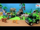 5416 Playmobil Wildlife Jungle Animals and Vehicle Building Playset - Fun Animal Toys For Kids