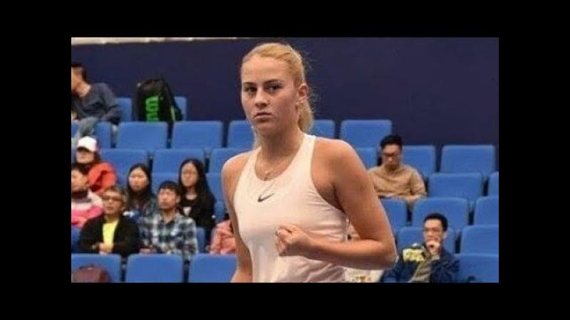 🇺🇦🎾 15-летняя Марта Костюк совершила феноменальный камбэк против 2-й ракетки турнира в Китае!