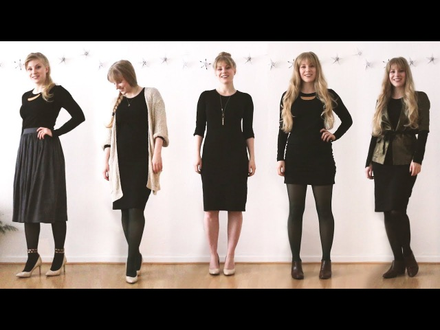 1 Dress 6 Ways | Wear the same dress to all your Holiday Parties