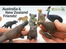 Koalas / Cassowary / Tasmanian Devil / Thylacine / Kiwi / Wombat / Platypus CollectA