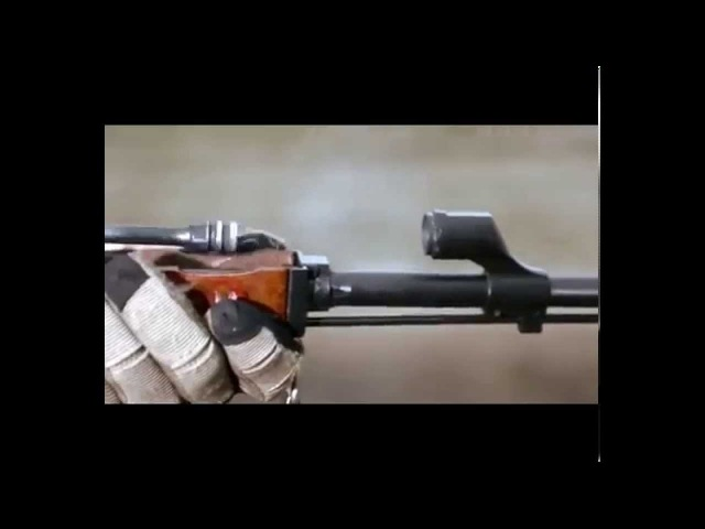 Стрельба из АК-74 вид изнутри, замедленная съемка
