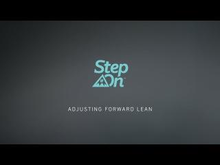 Burton Step On Tutorial - Adjusting Forward Lean