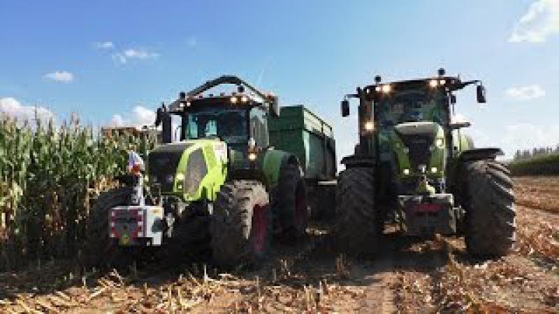 Corn Silage 2016   Tractor Claas John Deere New Holland   Claas Jaguar 850