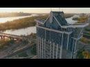 Сучасний Київ - Хмарочоси. Лівий берег - IVORY Films 4K Киев небоскребы аэросъемка