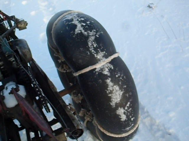 испытания снегохода из мотоблока самоделка.