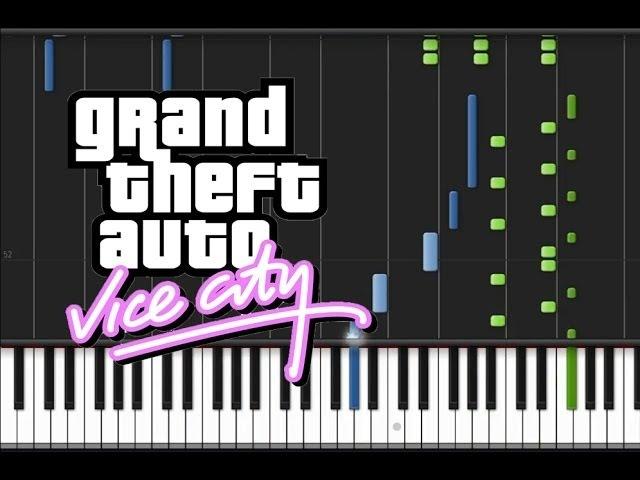 GTA Vice City - Main Title Theme [Piano Tutorial] (♫)