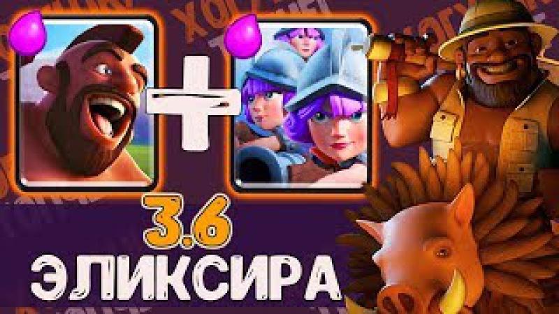 ХОГ ТРИ МУШКЕТЕРА ЗА 3.6 ЭЛИКСИРА   БЫСТРЫЙ ЦИКЛ - БЫСТРАЯ ПОБЕДА   Clash Royale