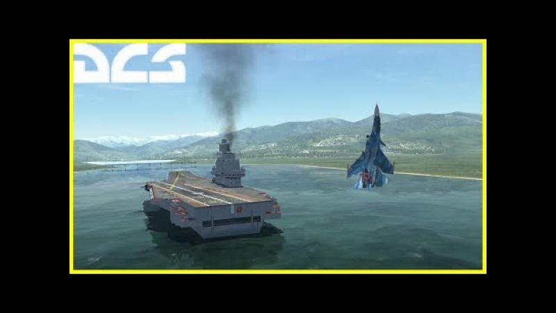 Su-33 Pugachev's Cobra Carrier Landing | Су-33 PFM. Кобра с посадкой на Кузнецова
