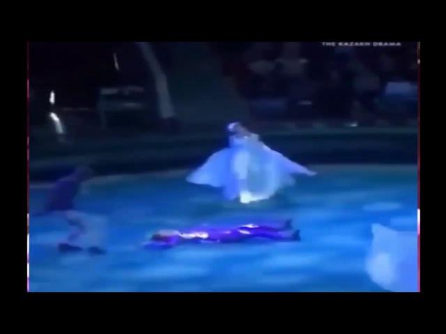 Падение гимнастки цирка с высоты сняли на видео,