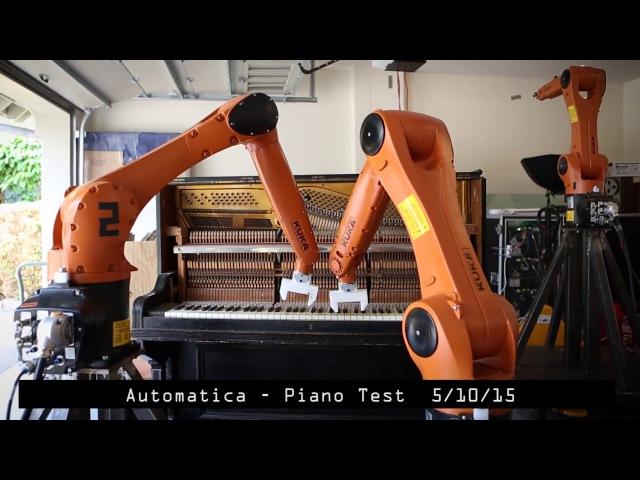Automatica Robot Piano Tests