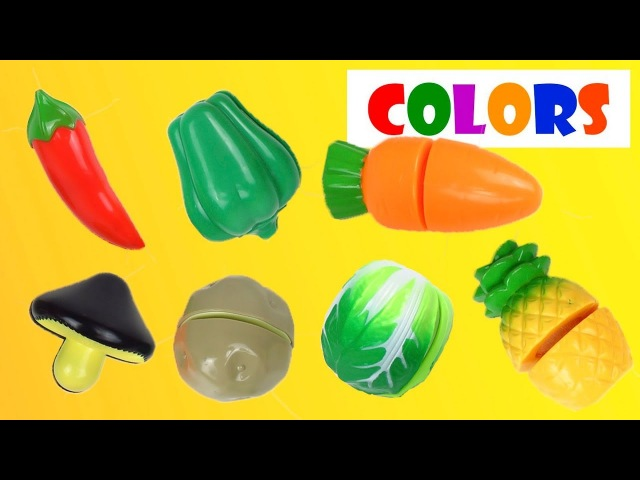 Learn colors with Vegetables toys and trolls PEZ