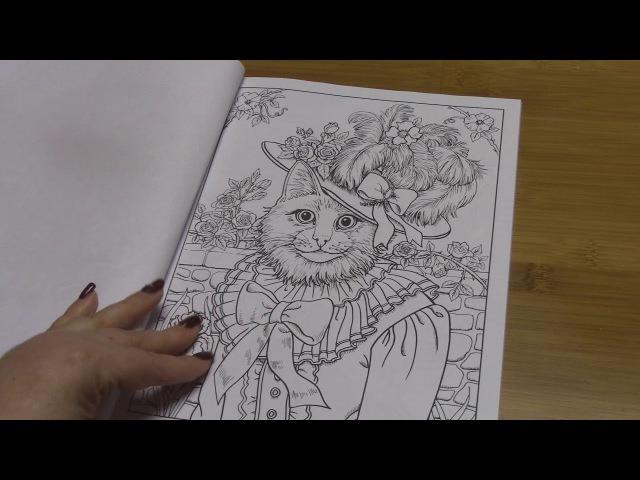 Раскраска антистресс Фантастические коты Ruth Sanderson