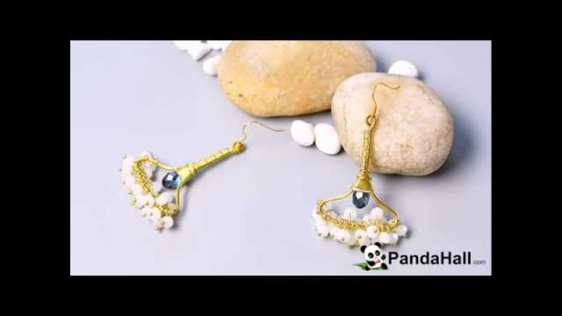 Pandahall Video Tutorial How to Make a Pair of Easy Wire Wrapped and Glass Bead Drop Earring