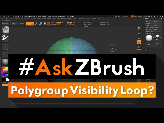 "AskZBrush: ""Sometimes when changing Polygroup Visibility it only hides a Loop?"""