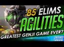 Agilities GODLIKE 85 Elim Genji Game vs Sinatraa ft IDDQD Dcop