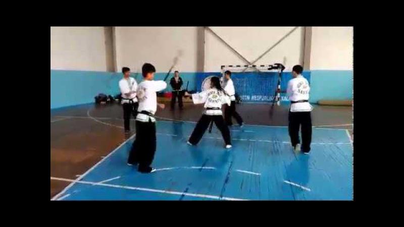 тренировка сборной узбекистана по Uzbek Jang San'ati-1