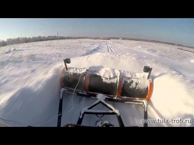 Отвал для снега на уаз - пробиваем дорогу по целине 30-40см