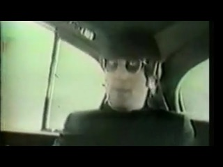 John Lennon and Bob Dylan Home video footage driving around London talking music &musicians 1966
