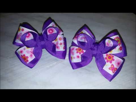 МК Фиолетовые банты из репса