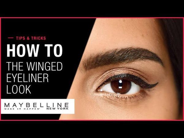The Winged Eyeliner Look How To Maybelline New York