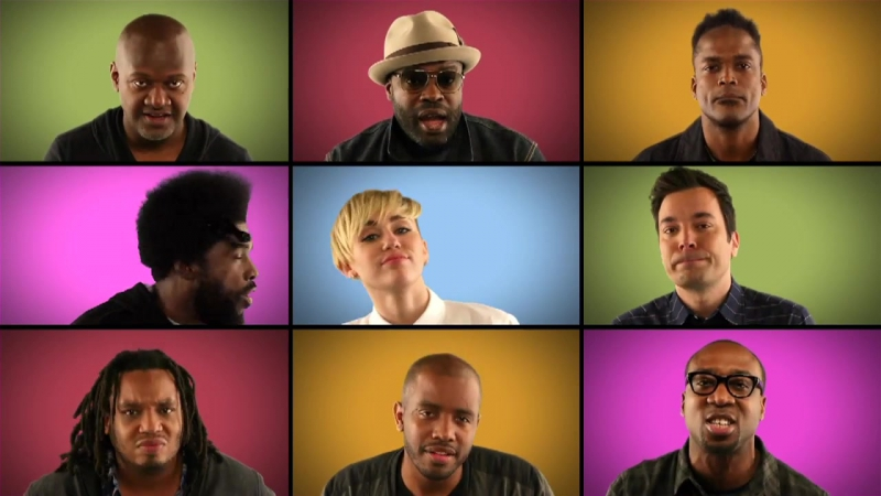 Jimmy Fallon, Miley Cyrus The Roots Sing We Cant Stop (A Cappella)