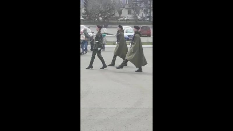 заступление на пост номер 1 в Красноярске