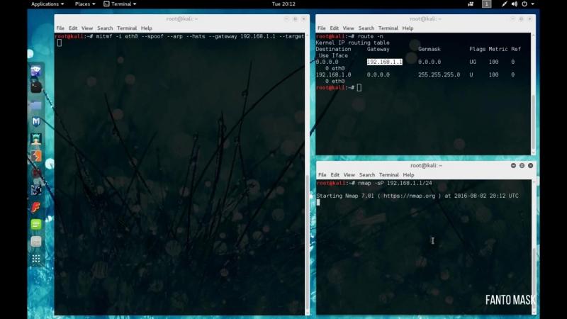 Kali Linux 2.0 Изображение на 180° (MITMf Upsidedownternet) в Wi Fi сетях