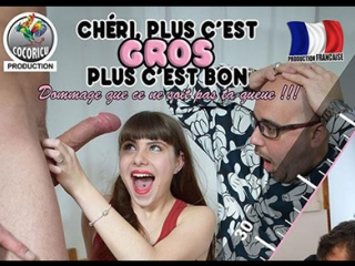 #pron cheri plus c'est gros plus c'est bon [2017 г., anal, oral, double penetration, threesome, cuckold, web-dl]