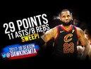 LeBron James SWEEPS LeBronto in 2018 ECSF GM4 Cleveland Cavaliers vs Raptors - 29-11! | FreeDawkins