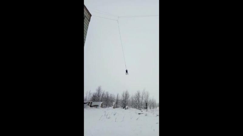 Мой первый прыжок. Старый элеватор, Воронеж, 45 метров