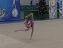 Катя с обручем на соревнованиях в Евпатории